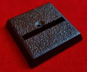 20mm Games Workshop Square slotta straight slotted plastic black Warhammer Wargame Base x1